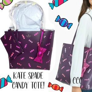 Kate Spade Candy 🍬 Wrappings Tote Bag Wristlet
